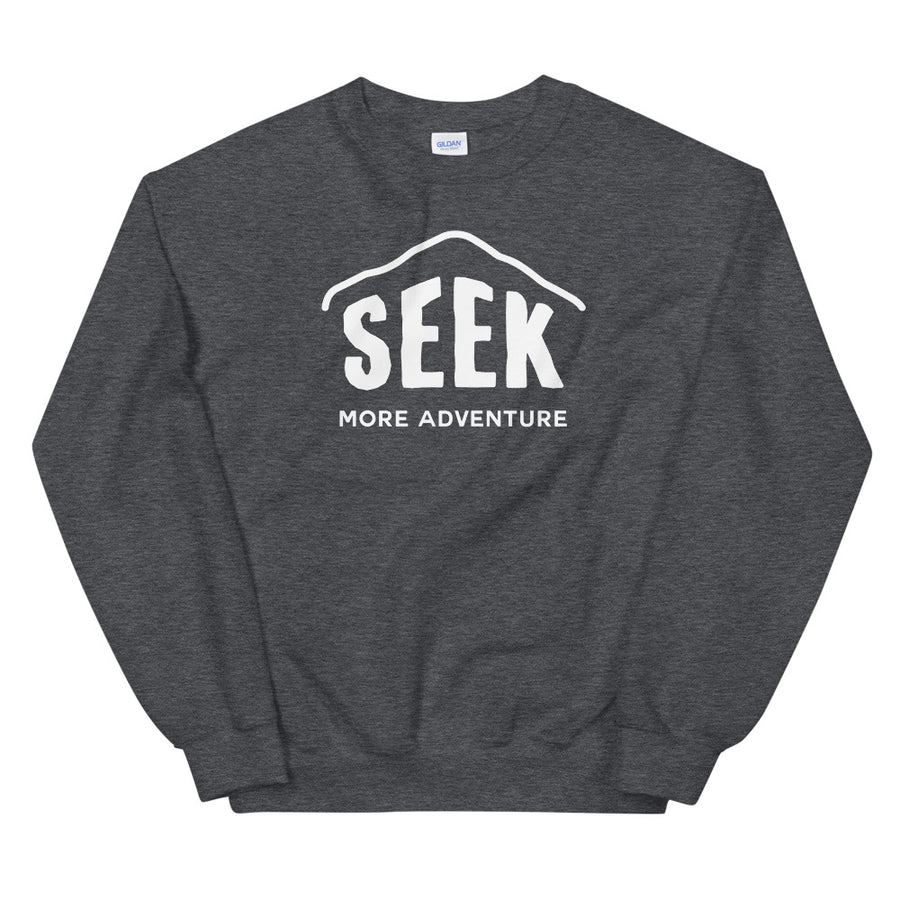 Hike & Seek seek more adventure printed hiking inspired sweater for men and women