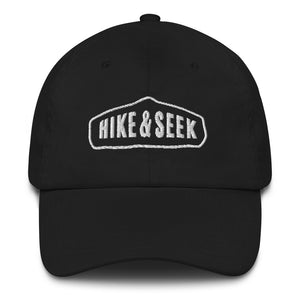 Hike & Seek hiking inspired printed dad hat for men and women