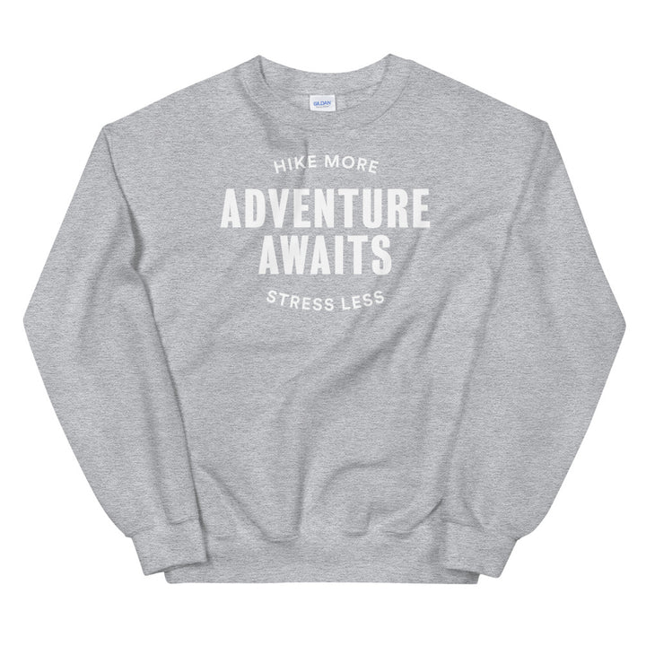 Hike & Seek adventure awaits printed hiking inspired sweater for men and women