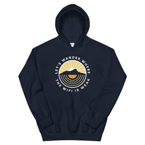 Let's Wonder Where The Wifi Is Weak - Unisex Hoodie