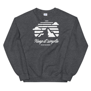 Hike & Seek keep it simple printed hiking inspired sweater for men and women
