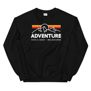 Hike & Seek adventure hiking inspired sweater for men and women