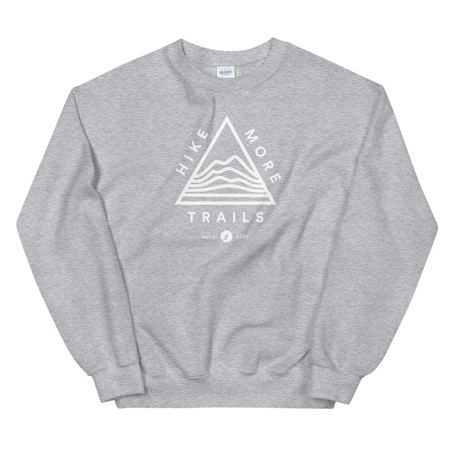 Hike & Seek hike more trails printed hiking inspired sweater for men and women