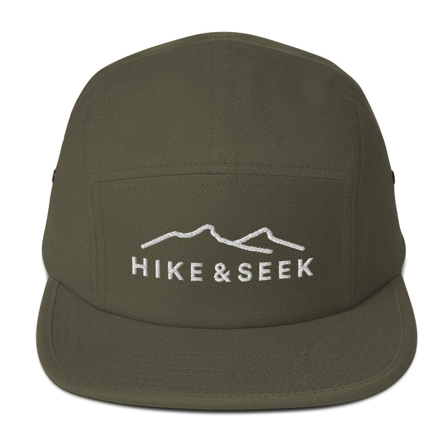 Hike & Seek hiking inspired printed 5 panel hat for men and womern