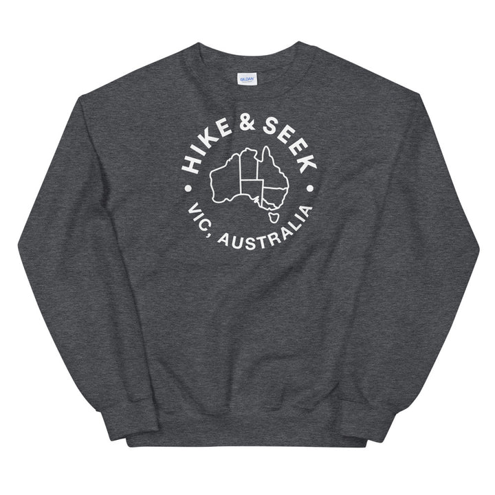 Hike & Seek Australia printed hiking inspired sweater for men and women