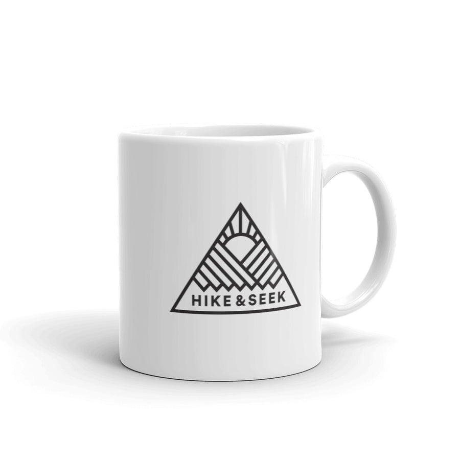 Hike & Seek hiking inspired printed coffee mug