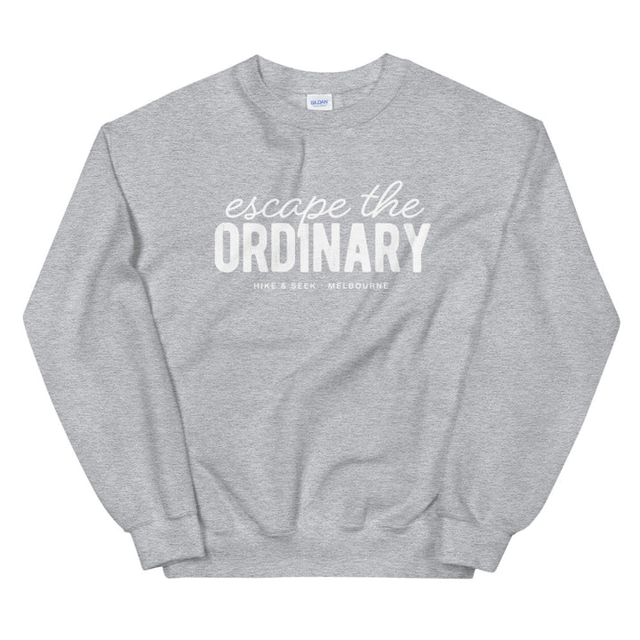 Hike & Seek escape the ordinary printed hiking inspired sweater for men and women