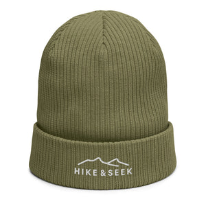 Hike & Seek black organic cotton beanie for men and women