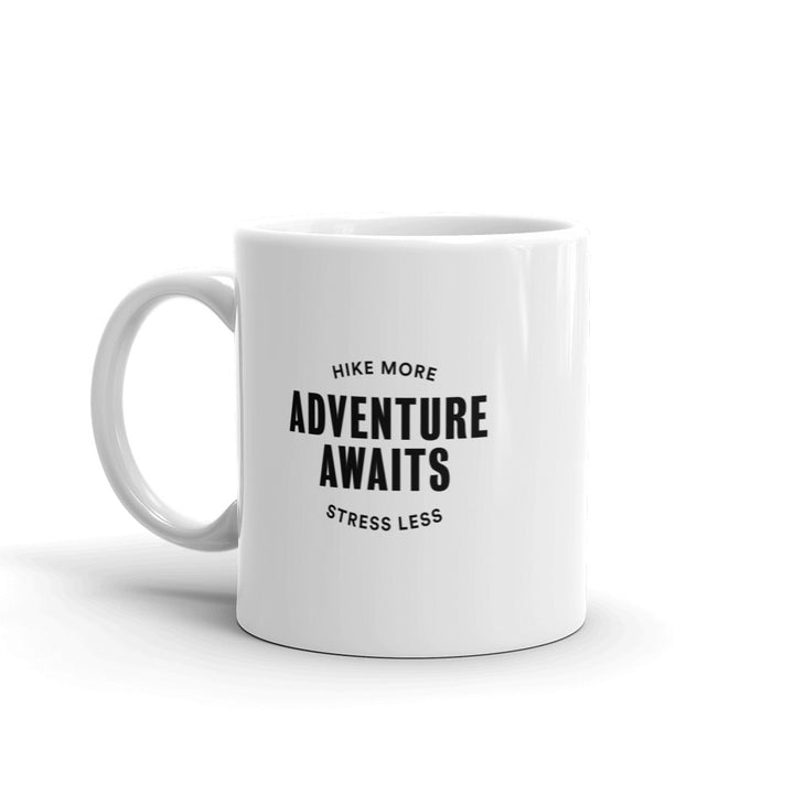 Hike & Seek adventure awaits hiking coffee mug