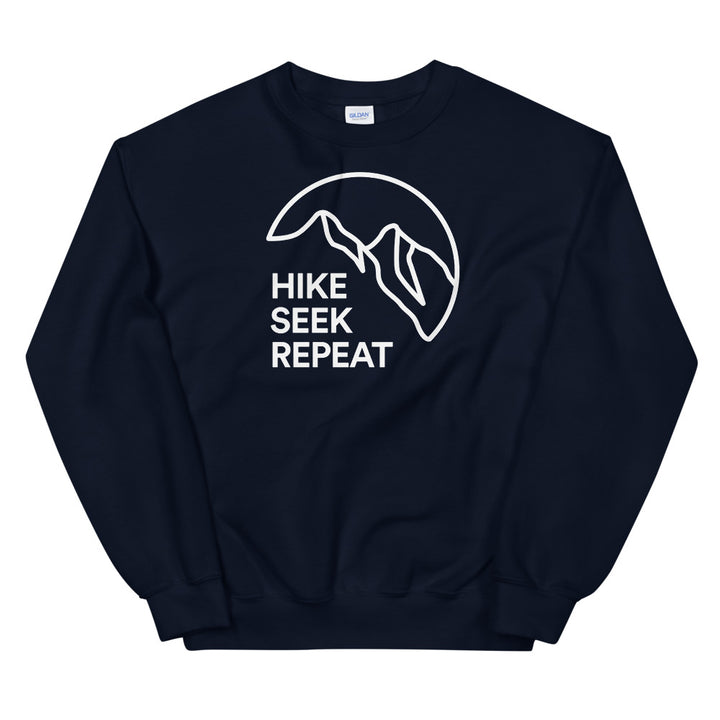 Hike & Seek hike seek repeat printed hiking inspired sweater for men and women