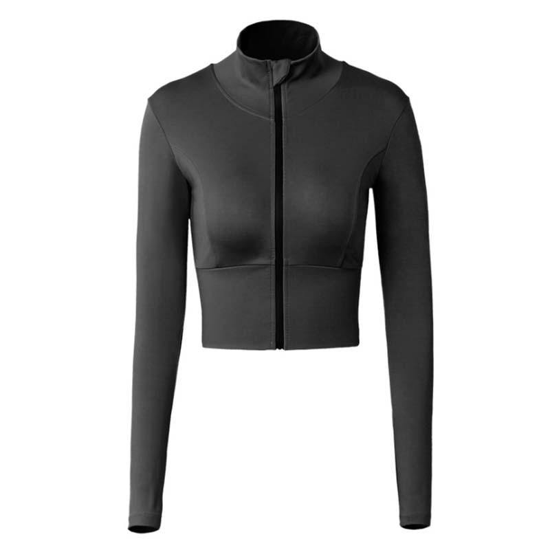 Shop Women's Clothing  Women Zipper Workout Long Sleeve Sweatshirt - Apparel & Accessories > Clothing > Outerwear - JOMOBabe