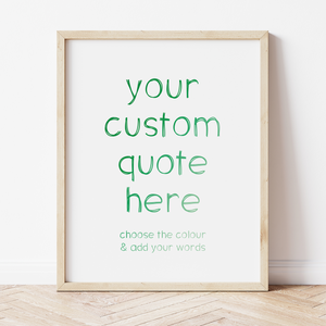 Custom Print with Ombre Writing