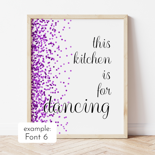Custom Print with Purple Confetti Border