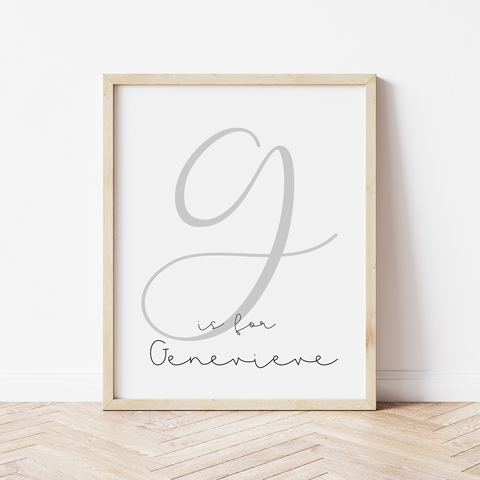 A is for...Calligraphy Print