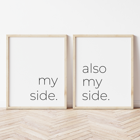 My Side, Also My Side - Set of 2 Prints
