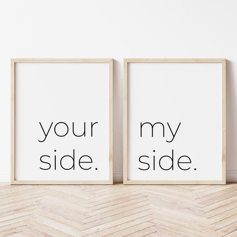 Your Side, My Side - Set of 2 Prints