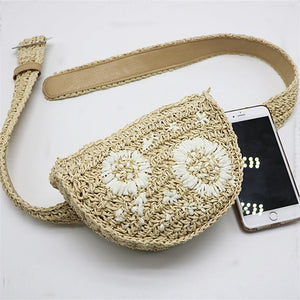 Purse with flowers, belt style