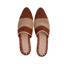 Load the image into the gallery viewer, two faces raffia shoes 2