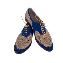 Upload image to gallery viewer, Blue moon derby raffia shoes 2