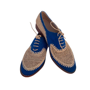 Blue moon derby raffia shoes 2