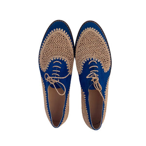 Blue moon derby raffia shoes 3