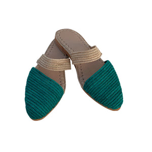 ocean waves raffia shoes 1