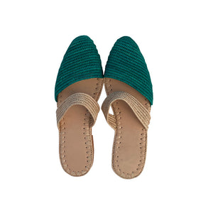 ocean waves raffia shoes 2