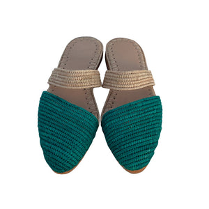 ocean waves raffia shoes