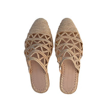 Load the image into the gallery viewer, the dunes raffia shoes 1