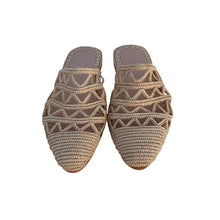 Load the image into the gallery viewer, the dunes raffia shoes