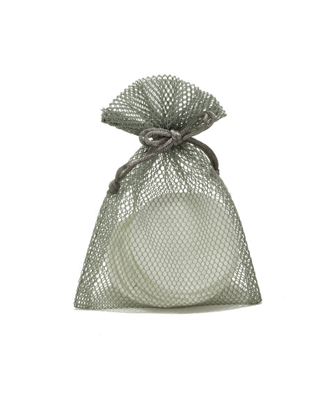 REUSABLE ORGANIC BAMBOO COTTON ROUNDS - SET OF 8 WITH MESH BAG
