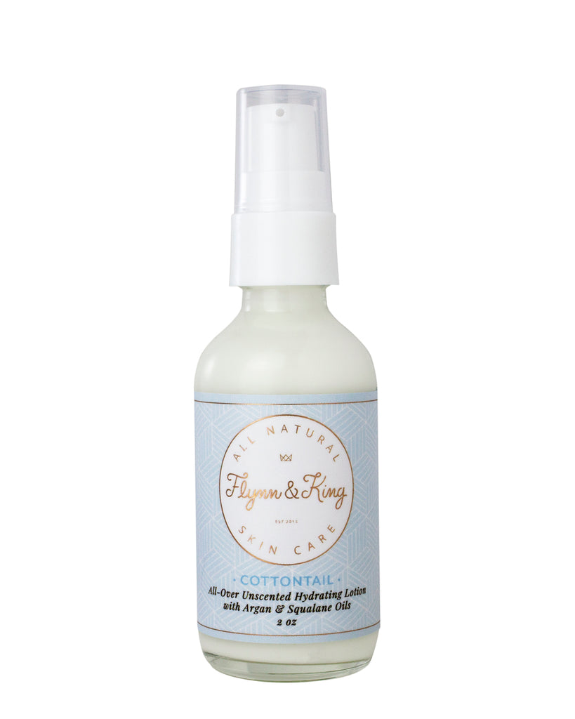 TRAVEL SIZE COTTONTAIL - All-Over Unscented Hydrating Lotion with Argan & Squalane Oils - New Item