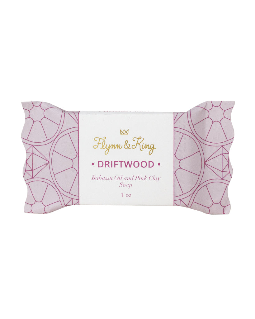 DRIFTWOOD - Babassu Oil and Pink Clay Guest Size Soap
