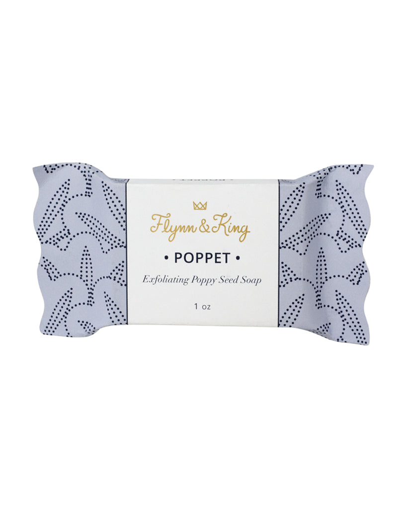 POPPET - Exfoliating Poppy Seed Guest Size Soap