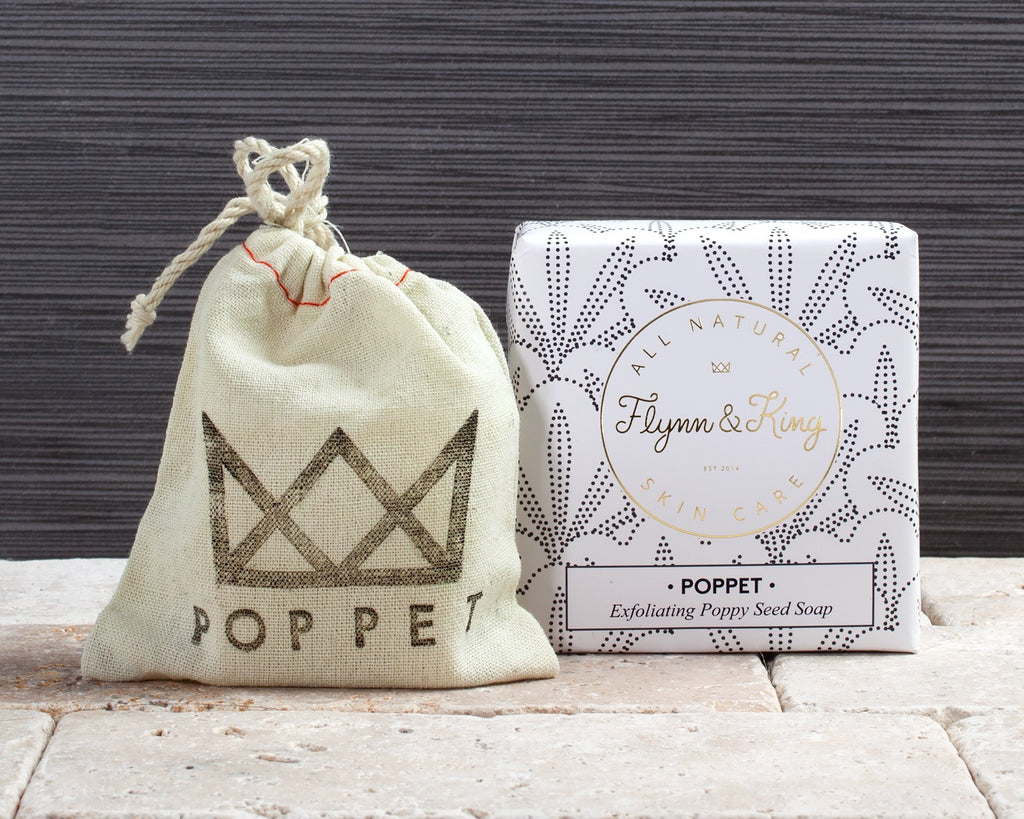 Artisanal Soap - POPPET - Exfoliating Poppy Seed Soap