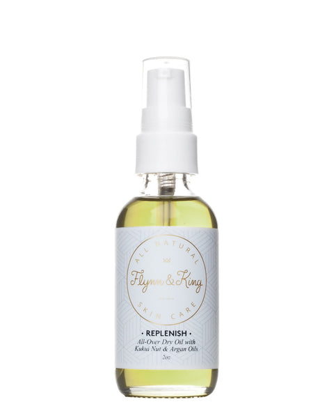 Body Oil - TRAVEL SIZE REPLENISH - All-Over Dry Oil With Kukui Nut And Argan Oil