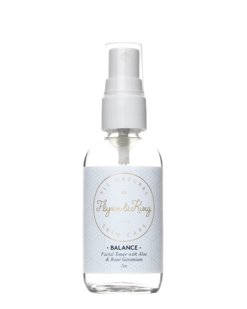 Toner - TRAVEL SIZE BALANCE - Facial Toner With Aloe And Rose Geranium
