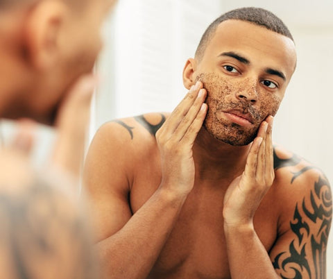 exfoliate to remove oil from the skin