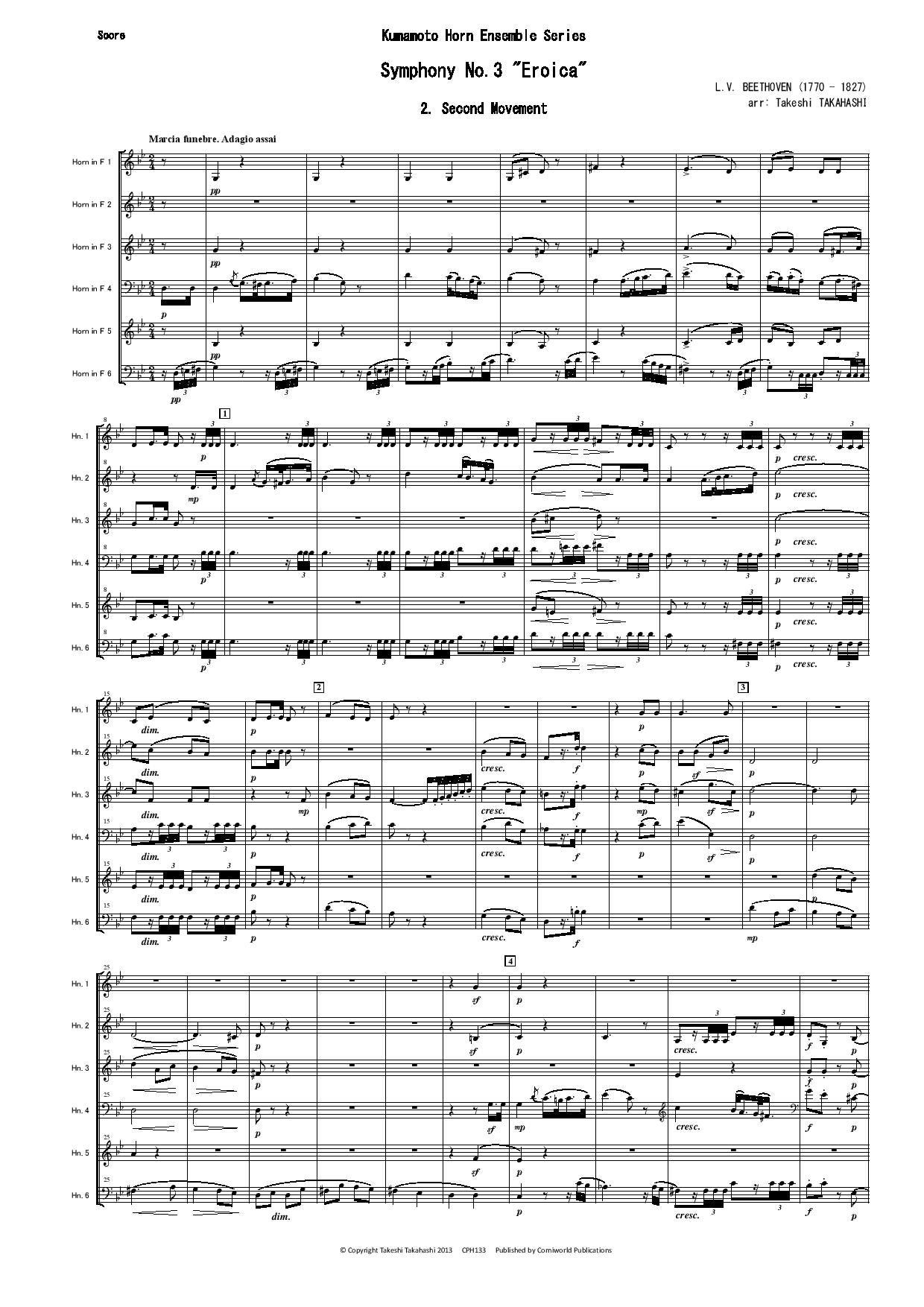 2nd Mvt from Symphony No.3 (Beethoven) CPH133