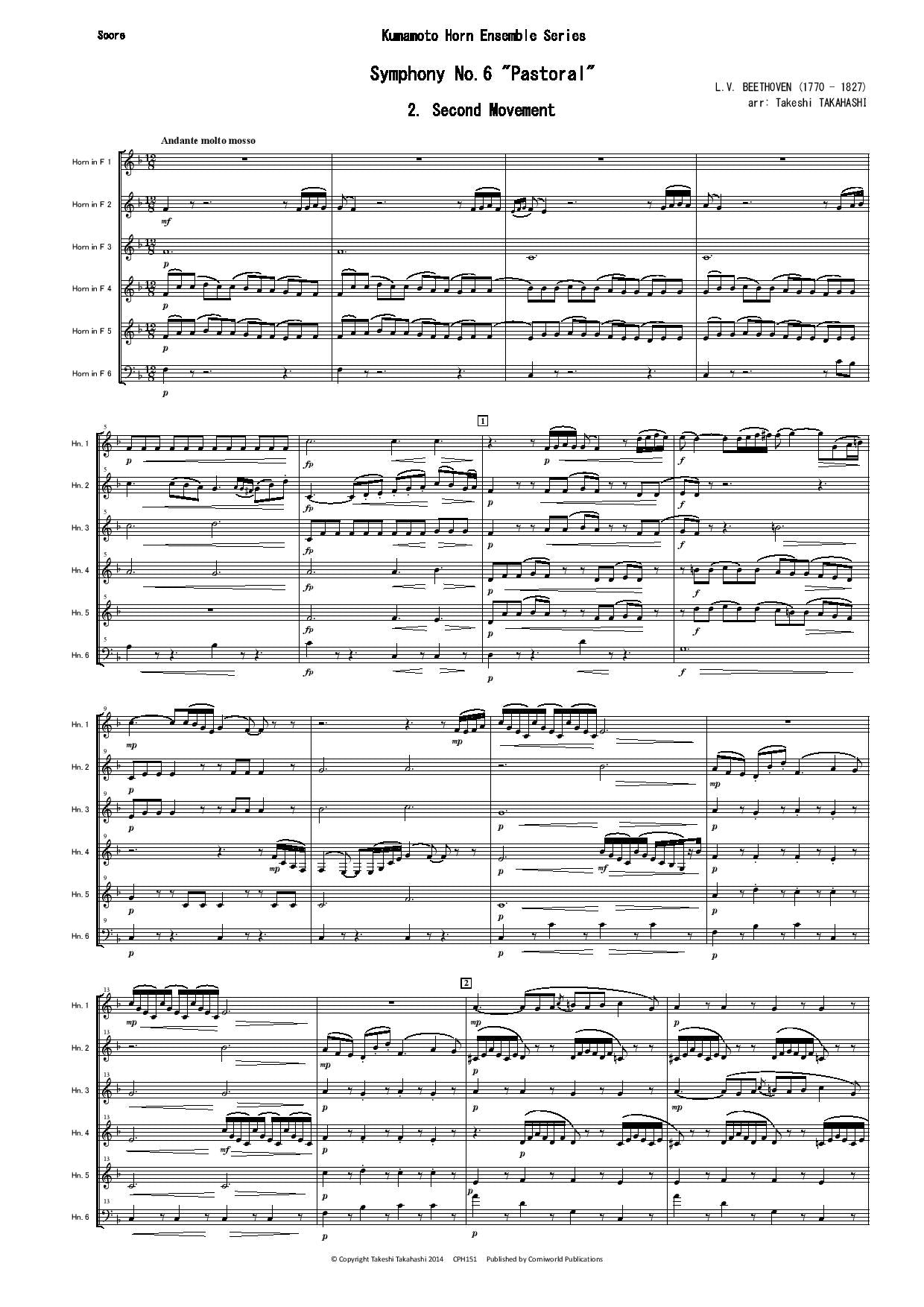 2nd Mvt from Symphony No.6 Pastoral (Beethoven) CPH151