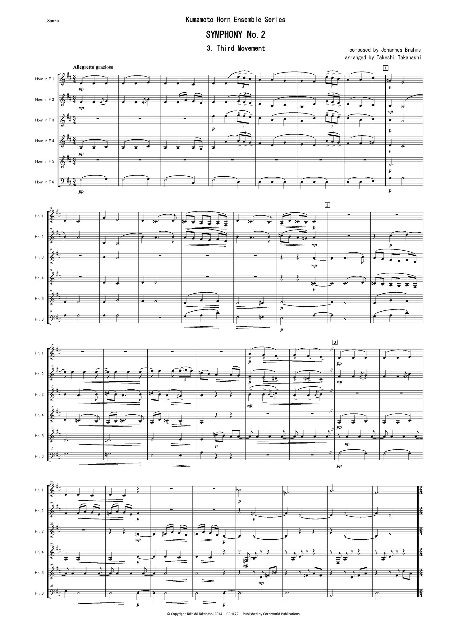 3rd Mvt from Symphony No.2 (Brahms) CPH172