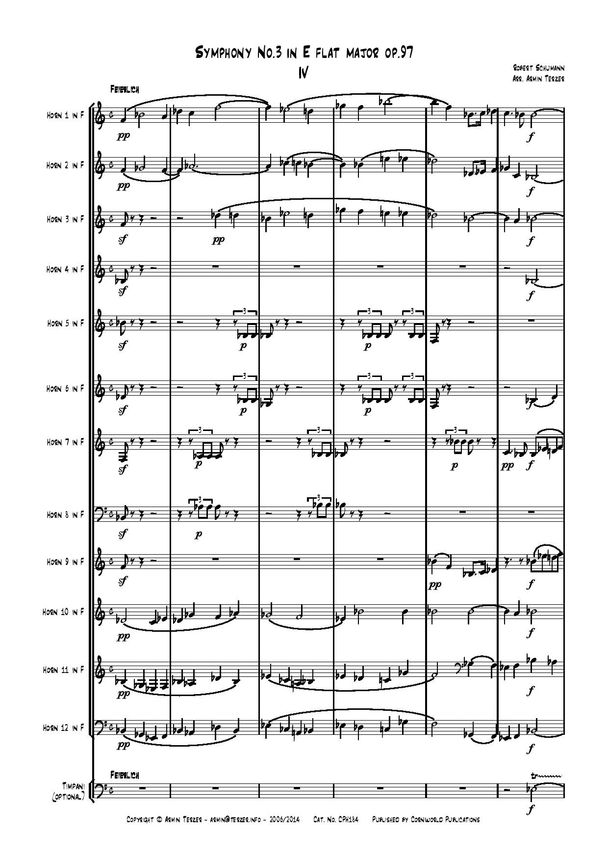 4th Mvt from Symphony No.3 - Schumann CPH184