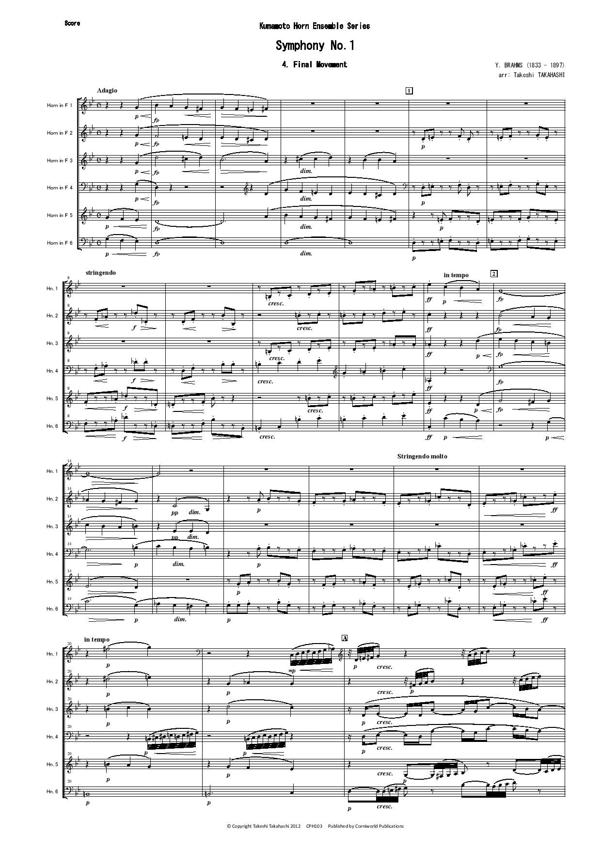 Final Mvt from Symphony No.1 (Brahms) CPH103