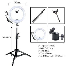 "12"" 30cm Photography LED Selfie Ring Light Dimmable Lamps Camera Phone Photo Lamp with Tripod For Youtube Live Makeup Studio"