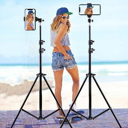 210CM Table Floor Tripod For Phone Camera Ring Light Metal Stands Reflectors Photo Studio Video Flash Lighting Background NE003