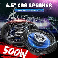 2pcs 6.5 Inch 500W 3 Way Car Coaxial Speaker and Subwoofers Vehicle Door Auto Audio Music Stereo Loudspeaker Horn Hifi Speakers