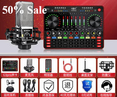 Ten lights G3pro professional live broadcast with cargo equipment a full set of network red sound card singing mobile phone computer dedicated desktop capacitive microphone microphone all-in-one main broadcaster equipped with running tune set god