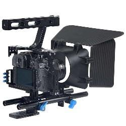 A7 Camera Cage Handle Dslr Video Stabilizer Rod Rig For Sony Gh4 GH5 GH5S A6300 A6500 A7S A7 A7R A7Rii A7Sii Camera Movie Cage