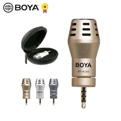 BOYA BY-A100 Omni Directional Condenser Phone Microphone Video for iPhone 6/6S/5/5S iPad iPod Android Samsung S6 S5 S4 HTC