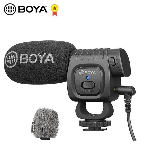BOYA BY-BM3011 On Camera Record Microphone for Canon Sony Nikon DSLR Camera Smartphone 3.5MM Jack Cold Shoe Youtobe Vlog Mic